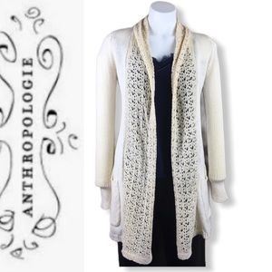 ANTHROPOLOGY/ Angel Of The North Crochet Cardigan